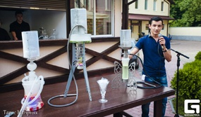 "Presentation of hookahs in the restaurant ""Georg Palace"""